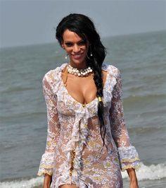 Judi Shekoni lingerie photo shoot