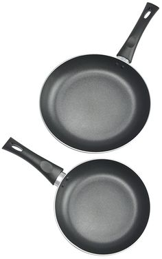 Kitchen Pro Nonstick Fry Pans, 8 and 10-Inch, 2-Piece Set, Black ** Continue to the product at the image link.