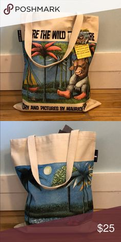 Canvas Where The Wild Things Are Tote Canvas Where The Wild Things Are Tote. Interior pocket. Made in USA. Bags Totes