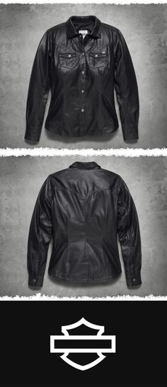 Less is more. | Harley-Davidson Women's Melrose Leather Shirt Jacket