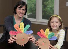 Thankful Turkey Thanksgiving Kids Craft makeandtakes.com