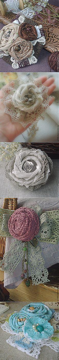 Текстильные броши в стиле БОХО от двух мастериц | ШПИЛЬКИ