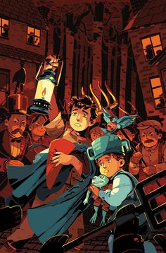"""""""the final issue of OVER THE GARDEN WALL: HOLLOW TOWN comes out this week from written by me and with art by -- here's my cover. getting to write on this series was a real treat and I hope everyone who read it enjoyed it! Garden Wall Art, Over The Garden Wall, Character Art, Character Design, Artist Art, Fanart, Amazing Art, Fantasy Art, Cool Art"""