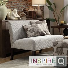 Inspire Q Kayla Grey Bracket Chain Armless Loveseat - Michele - is this what u had in mind for the foyer?