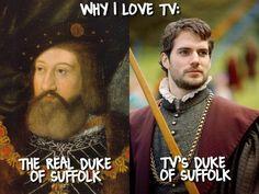Why I love TV. The real Duke of Suffolk & TV's Duke of Suffolk