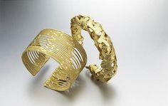 Cuffs | Anna M Nadel.  18kt gold.