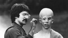 Tom Savini applies make-up to Ari Lehman, creating his vision of Jason Voorhees Friday the Jason Voorhees, Horror Icons, Horror Films, Horror Art, Quentin Tarantino, Zombies, Tom Savini, Francois Truffaut, Movie Makeup