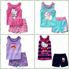 de2adb4cd9 Vest Pyjamas, Pajamas, Pajama Suit, Striped Pyjamas, Drawing Board, Baby  Wearing, Outfit Sets, Kids Girls, Hello Kitty