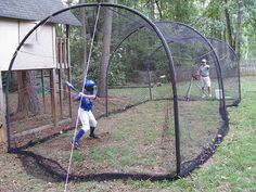 Backyard Batting Cage, I Can See This In Our Future.