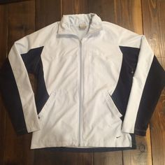 Nike Zipup Jacket This jacket is in amazing condition. Size small. Perfect for to and from the gym or just for day-to-day wear. Please feel free to ask any questions or make an offer! Happy to give bundle discounts - check out my other listings! ☺️ Nike Jackets & Coats