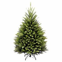 This little guy is just adorable. Faux Dunhill fir tree with a folding metal stand.  Product: Faux treeConstruction Material: PVC and metalColor: GreenFeatures:  Suitable for indoor or outdoor useFlame-resistant and non-allergenic