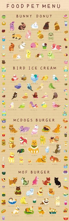 food pet menu