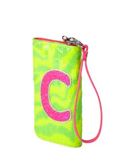 Zebra Glitter Initial Wallet | Fashion Bags | Bags & Totes | Shop Justice