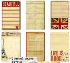 Awesome for journal pages or scrapbooking.