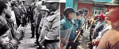 The Civil Rights Act is 50 years old. These two pictures were taken 50 years apart. Behold our progress.