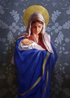 Leading Illustration & Publishing Agency based in London, New York & Marbella. Religious Pictures, Jesus Pictures, Blessed Mother Mary, Blessed Virgin Mary, Religious Paintings, Religious Art, Religion, Jesus Christ Images, Sainte Marie