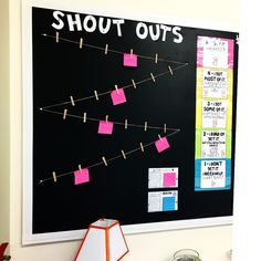 "Student ""Shout Outs"" Board! 📢💬🔊Loved this idea from and couldn't wait to use it in my classroom! Spotlight Bulletin Board, Staff Bulletin Boards, Huddle Board, Student Of The Week, Staff Motivation, Staff Room, Staff Appreciation, Employee Engagement, Classroom Fun"