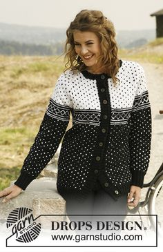 "Nordic Beauty - Knitted DROPS jacket with raglan and Norwegian pattern in ""Merino Extra Fine"". - Free pattern by DROPS Design Knit Cardigan Pattern, Sweater Knitting Patterns, Knit Patterns, Free Knitting, Handgestrickte Pullover, Raglan, Drops Design, Icelandic Sweaters, Nordic Sweater"