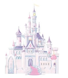 RoomMates RMK1546GM Disney Princess Glitter Castle Peel & Stick Giant Wall Decal $24.89