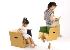 S-cube  Light weight cardboard chair.
