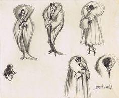 Cruella de Vil concept art by Marc Davis. Absolutely delicious.