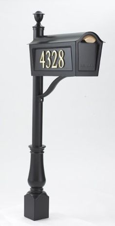 "Whitehall Deluxe Chalet Mailbox Post Package 16170, Black by Whitehall. $330.99. Mailbox Dimensions: 20.5"" x 11"" x 11.5"" - 16.5 lbs.. The Whitehall Chalet Mailbox is constructed of 100 powdercoat steel with all Stainless Steel hardware it will last a indefinitely and carries a manufacturer's 3year mechanical warranty and 1year finish warranty. The Chalet Deluxe Package comes with:Personalized Aluminum Address Plaques for both sides of the mailbox, with:Numbers..."
