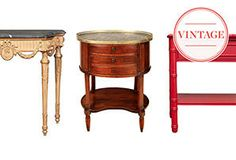 Table Talk: Vintage Tables: Coffee, Side, Console, Dining