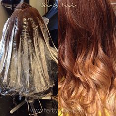 Balayage hair painting. Can you believe it it's her natural color! My beautiful…