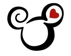 Disney Mickey Head and Heart Swirl Ear Epcot Iron-On Transfer Image Graphics for T-Shirts, Pillowcas Disney Mickey Head und Heart Swirl Ear Epcot Transfer-Grafik zum [. Mickey Tattoo, Mickey Mouse Tattoos, Disney Diy, Disney Crafts, Disney Trips, Disney Love, Mickey Head, Mickey Minnie Mouse, Mickey Mouse Stencil