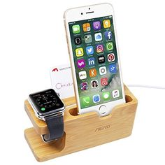 Price: Be aware cheap knockoffs from other sellers; buy authentic with Aerb; charger and iWatch are not included;, It can hold the iWatch stable and provides comfortable viewing; plus it can hold your iPhone nicely;, Special cutouts for the Apple Watch charger and cable;, Wood stand is as solid build for better stabilization and a …