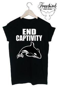 END CAPTIVITY whales dolphins animal rights by FreebirdApparelUK, $24.00