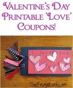 Valentine's Day Printable 'Love' Coupons!