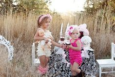 I love these lace rompers! And the headbands are to die for!