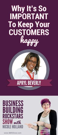 "Apryl Beverly on Why It's So Important To Keep Your Customers Happy  Apryl Beverly, the ""Million-Dollar Word Stylist"" and founder of BAAB Writing and Marketing Services crafts copy that has generated millions in revenue for solo entrepreneurs and some of the top brands in the U.S.  Learn more: http://bbrshow.com/podcast/062/"