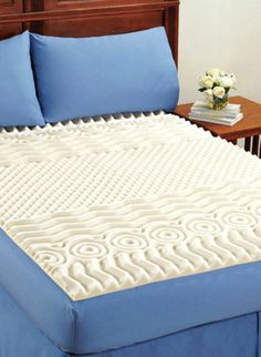 FOAM MATTRESS  BED TOPPER - 7 different patterned zones  full and queen size