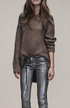 Znalezione obrazy dla zapytania loose purl sweaters