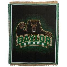 Baylor Bears 46'' x 60'' Focus Jacquard Woven Blanket Throw $29.95