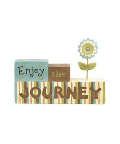 Take a look at this 'Enjoy the Journey' Collectible by Blossom Bucket on #zulily today!