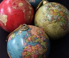 Decorate your Christmas tree and show off your worldly knowledge with these world globe tree ornaments. Featuring four different colored mini globes with an unbelievable attention to detail, they will easily become your favorite tree ornament. Buy It $24.41 via RockettsSt[..]