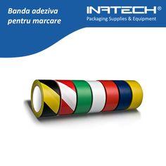 Banda adeziva de marcare este o banda adeziva din PVC acoperita cu un strat agresiv de adeziv din cauciuc si rasina ...