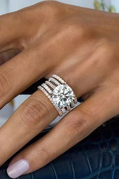 stacked wedding rings Ide et inspiration Bague De Fianailles : Image Description 69 Most Popular And Trendy Engagement Rings For Women engagement rings for women round cut diamond pave band slitaire diamond rings See more: weddingforwar Unique Rings, Beautiful Rings, Most Popular Engagement Rings, Thick Band Engagement Ring, Solitaire Engagement, Engagement Rings For Women, Women Wedding Rings, Rectangle Engagement Rings, Designer Engagement Rings