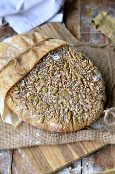 No Knead Wholegrains Gluten Free Artisan Bread. Making Crusty & Gluten Free Wholegrains Bread has never been so easy ! The trick is to bake the bread in a cast iron casserole that will trap the moisture while baking ensuring a crusty outside and moist inside. #recipe #artisanbread #bread #crusty #wholegrains #glutenfreebread #glutenfree