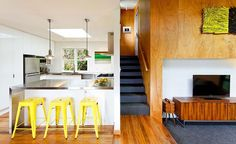 Striking House Addition Paul Rolfe Architects Home Design Interior In Kitchen Space With White Furniture Color Ideas