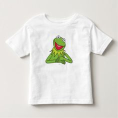 Shop Kermit the Frog Toddler T-shirt created by muppets. Personalize it with photos & text or purchase as is! The Muppet Show, Kermit The Frog, Mickey And Friends, Consumer Products, Basic Colors, Stay Warm, Cotton Tee, Colorful Shirts, T Shirts For Women