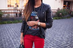 Song of Style: Rocking Leather ✿ Song Of Style, Style Me, Passion For Fashion, Love Fashion, Outfits Otoño, Look Street Style, Rocker Style, Rocker Chic, Looks Style