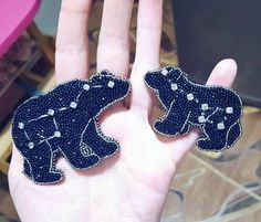 Star bear brooches