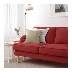 STOCKSUND Canapé 2 places - Ljungen rouge clair, brun clair - IKEA