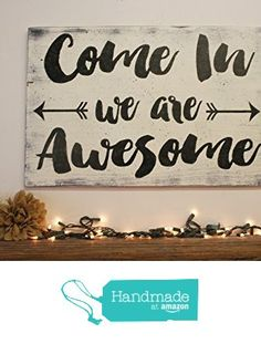 Distressed Wood Welcome Sign from Rusticly Inspired Signs
