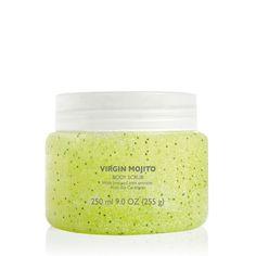 Scrub up! Invigorate tired skin with a blast of our zesty, refreshing Limited Edition Virgin Mojito Body Scrub. #virginmojito #thebodyshopaust