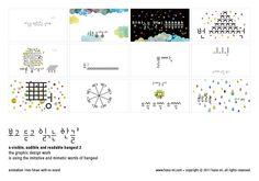 보고 듣고 읽는 한글 2 (a visible, audible and readable hangeul 2) postcard (back)